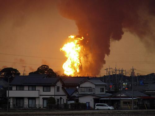 コスモ製油所の火災