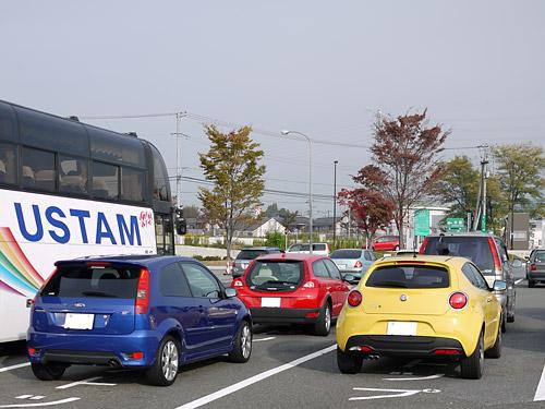 赤ボルボ×青フォード×黄アルファ