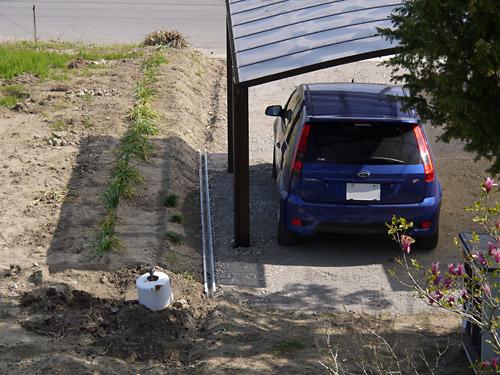 [Challenge100] 駐車場まわりの整備