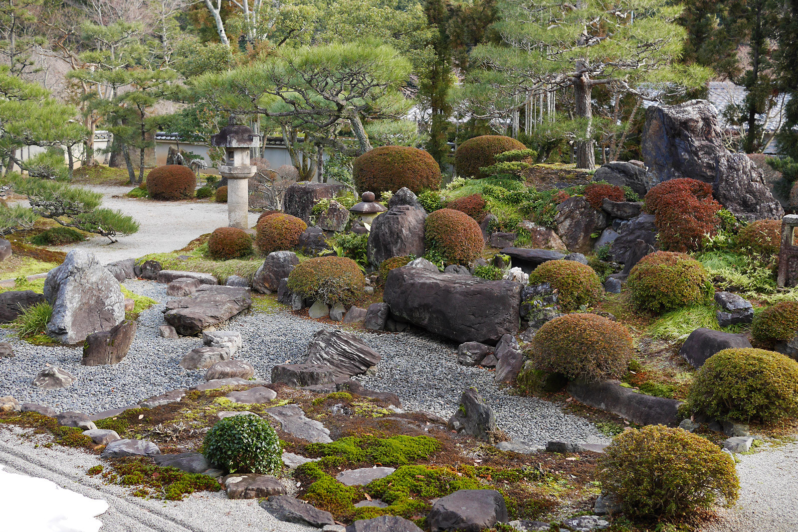 妙塔山 妙満寺 雪の庭