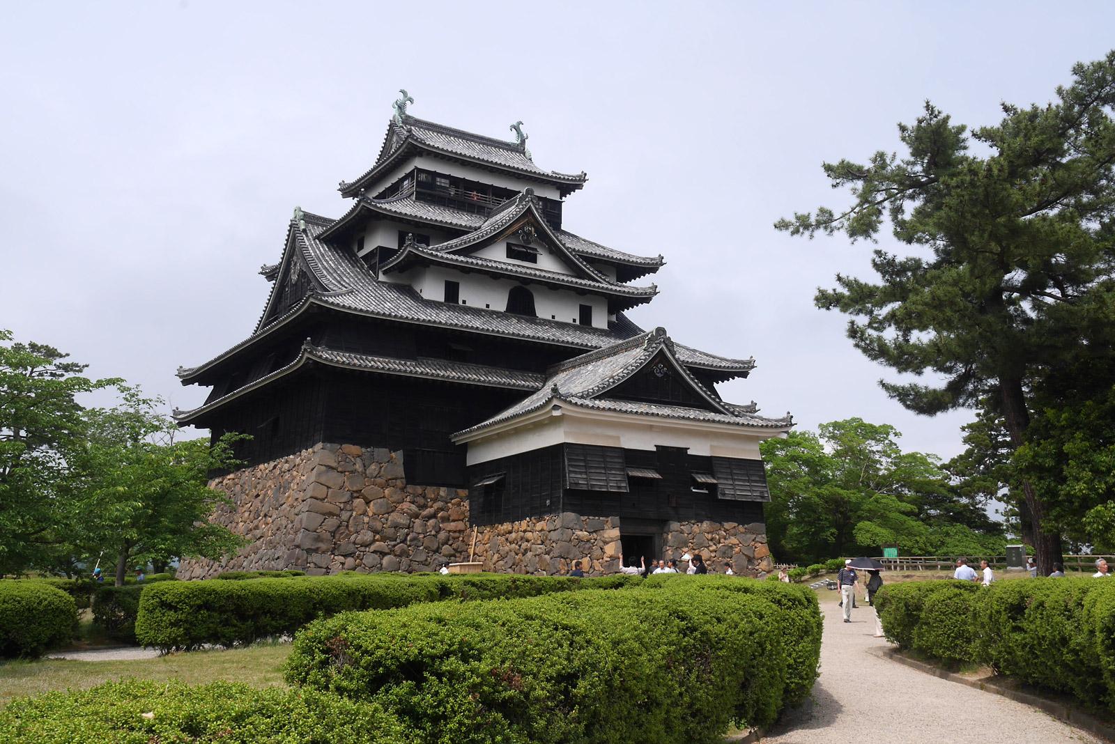 国宝指定確定日に居合わせた松江城