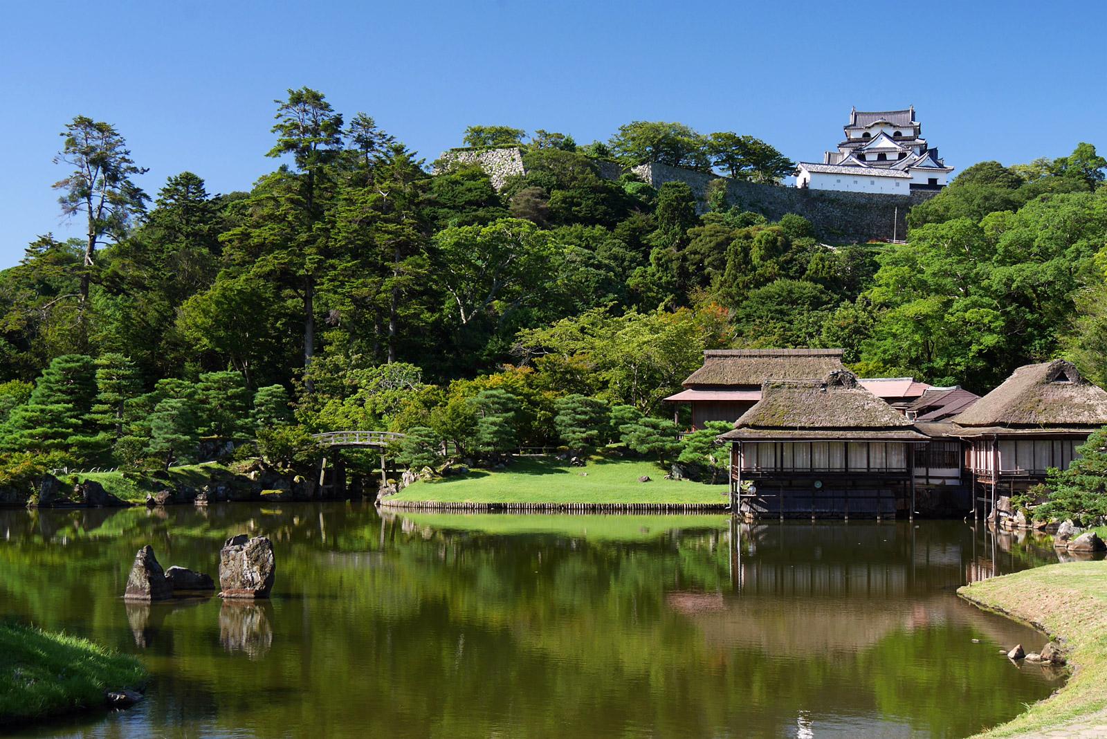 多彩な景色 彦根城 玄宮園