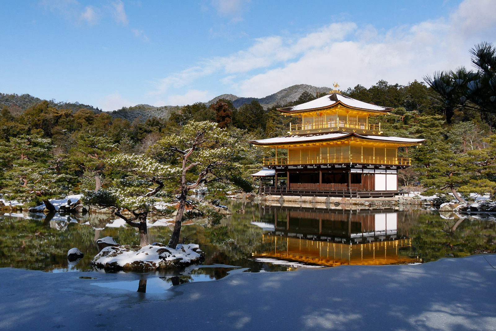 冬の京都三景 金閣寺