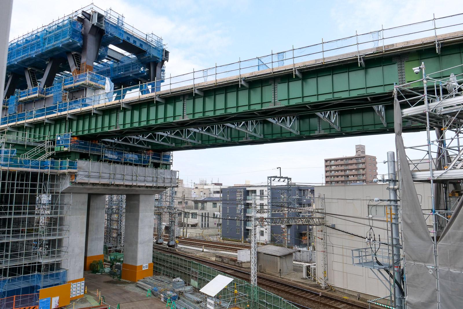 淡路駅高架化工事